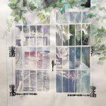 Ivy Covered Door. 9in x 12in $48