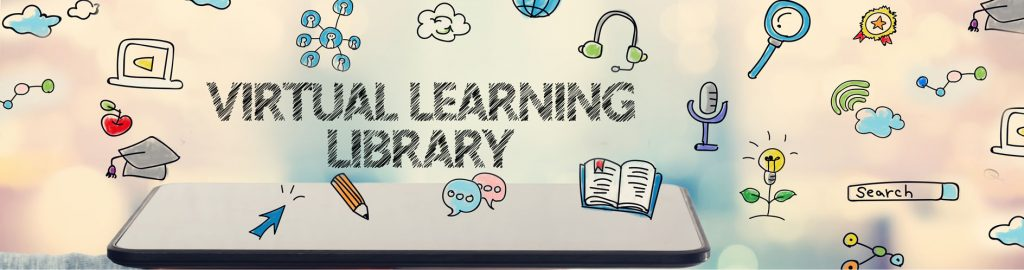 virtual learning library banner