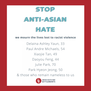 Stop Asian Hate Delaina Ashley Yaun, 33 Paul Andre Michaels, 54 Xiaojie Tan, 49 Daoyou Feng, 44 Julie Park, 70 Park Hyeon Jeong, 50 & those who remain nameless to us
